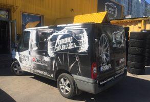 riepas diski dizains auto aplīmēšana ar reklāmu