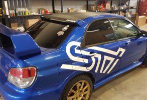 auto aplīmēšana un dizaina izstrāde Subaru STi