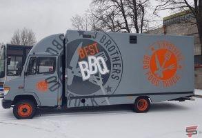 Food Truck auto aplīmēšana ar 3M līmplēvi