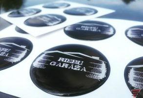 3D polimēra uzlīmes auto diskiem