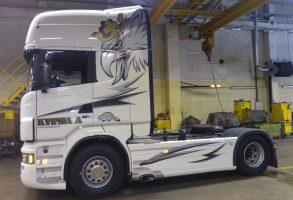 Kvinta A vilcēja aplīmēšana Scania