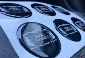 3D polimēra disku uzlīmes