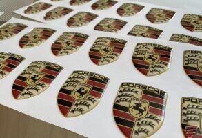Porsche 3D auto disku uzlīmes