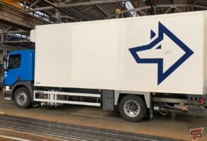 Vilks Scania piekabes aplīmēšana